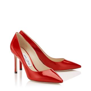 Jimmy Choo Romy Red Patent Leather Shoes