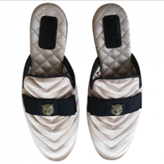 Gucci Princetown Satin Slippers