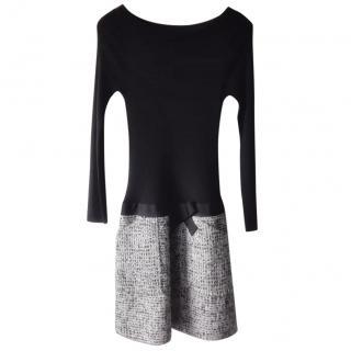 Paule Ka Wool/Tweed Knit Dress