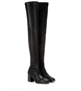 Edun Metallic Suede Over the Knee Boots