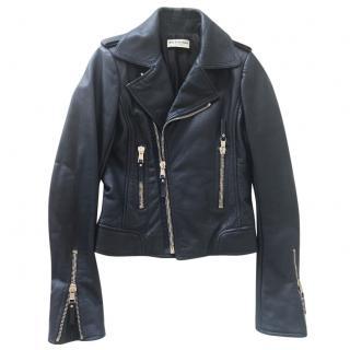 Balenciaga Classic Navy Biker Jacket