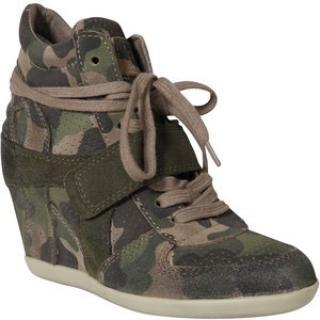 Ash Suede Camo Bowie Sneakers