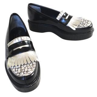 Robert Clergerie Embellished Platform Loafers