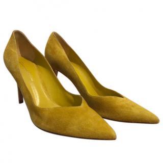 Gianvito Rossi Mustard Heels
