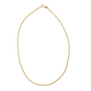 Bespoke Yellow Gold Thin 14K Chain Necklace