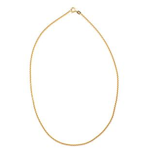 Bespoke Yellow Gold Thin 14K Chain Necklace