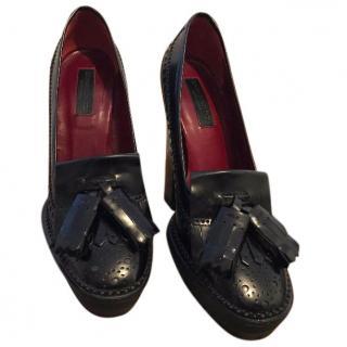Burberry Black Chunky Heels