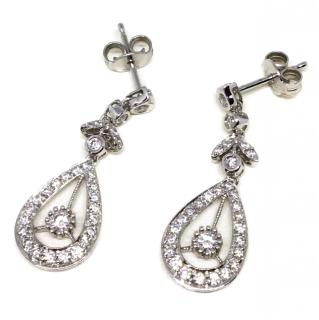 18ct White Gold 1ct approx. Diamond Earrings