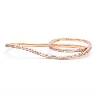 Bespoke Diamond Rose Gold Two-Finger Ring