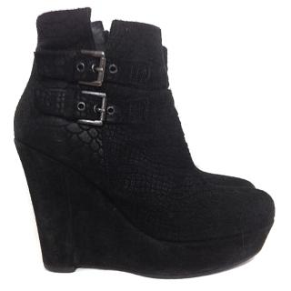 Kooples Black Suede Heels