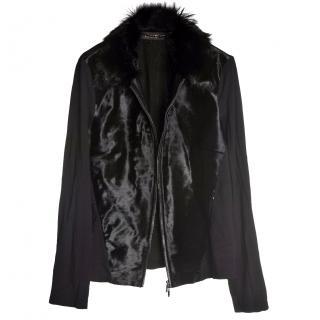 Escada Jacket with Pony Fur