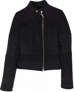 Karen Millen Grey Jersey Biker Jacket