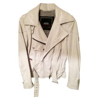 Belstaff White Patent Leather Jacket