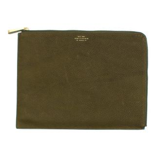 Smythson Eliot Large Textured-Leather Pouch