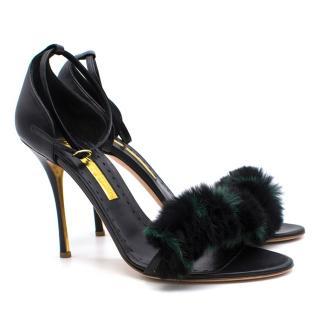 Rupert Sanderson Mikie Fur High Heels