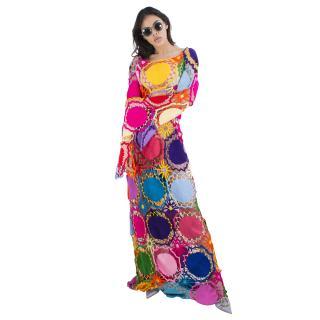 My Beachy Side Dreamcatcher Maxi Hand-Crochet Dress