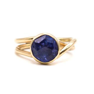 Bespoke Tansanite and Gold Plated Ring