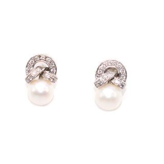 Bespoke Pearl and Diamond Earrings