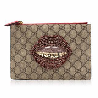 Gucci Embroidered GG Supreme Small Pouch
