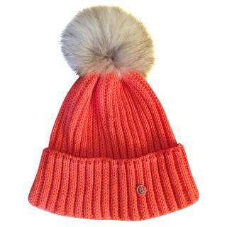 Bogner Wool Hat with Detachable Fur Trim