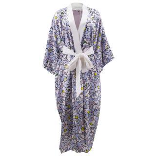 Olivia Von Halle Queenie Full Length Silk Kimono