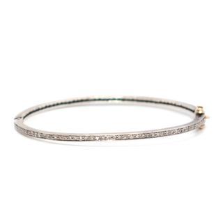 Bespoke Silver Thin Diamond Bracelet