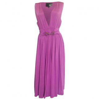 Just Cavalli Light Purple Midi Dress