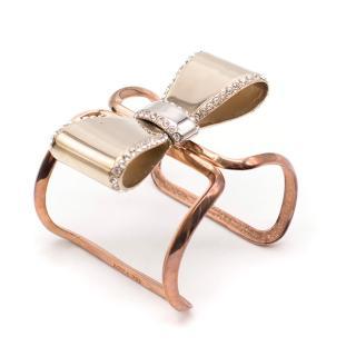 Azzaro Bow Embellished Cuff Bracelet