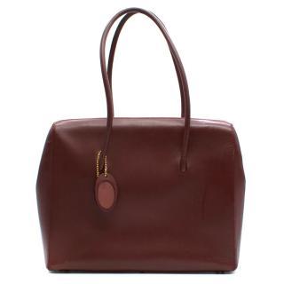 Cartier Mini Boston Bordeaux Hand Bag