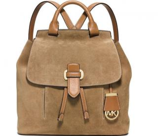 Michael Micheal Kors Tanned Suede And Leather Backpack