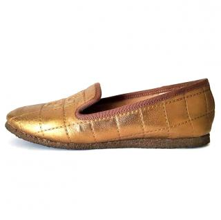 Tory Burch Bronze Cowley Slippers