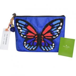 Kate Spade Heavily Beaded Butterfly Clutch