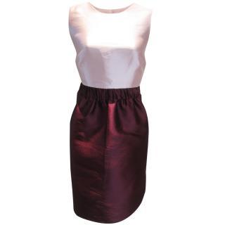 KATE SPADE SWIFT DRESS PINK & BURGUNDY