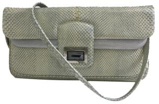Kara Ross Lizard Skin Lucis Shoulder Bag
