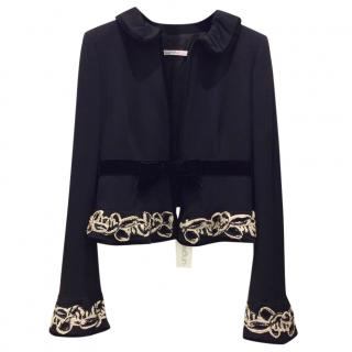 Ungaro Black Velvet Trimmed Jacket