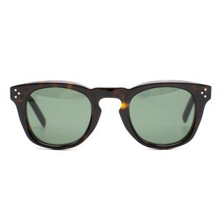 Celine Tortoiseshell Wayfarer-Style Sunglasses