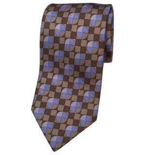 Hermes modern art blue/brown tie