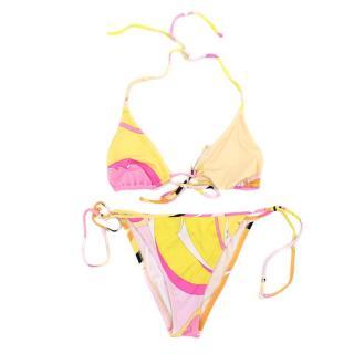 Emilio Pucci Iconic Pattern Triangle Bikini Set