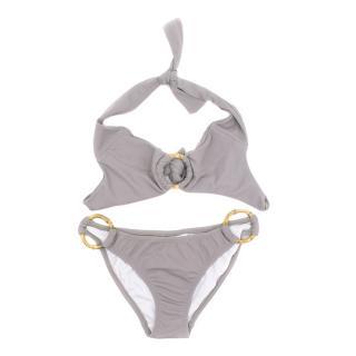 Heidi Klein Sand Tringle Bikini Set with Bamboo Details