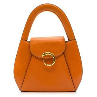 Cartier Panthere Orange Mini Handle Bag