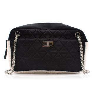 Chanel Navy and White Camera Bag