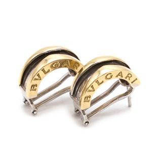 Bvlgari B.Zero1 Earrings in White and Yellow Gold