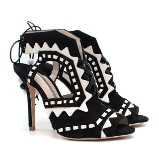 Sophia Webster Riko Black and White Heeled Sandals