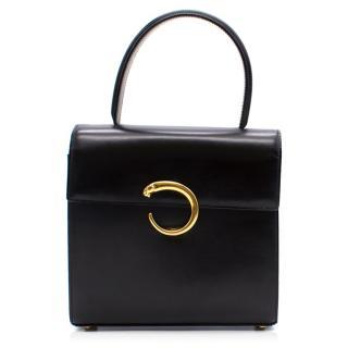 Cartier Panthere Black Top Handle Bag
