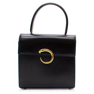 Cartier Panthere Black Top Handle Bag