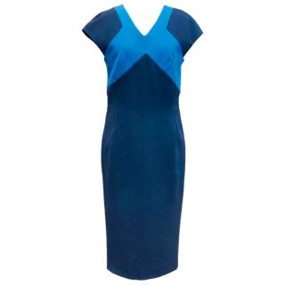 Victoria Beckham Blue body con dress