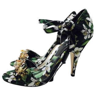 Dolce & Gabbana Fiori crystal shoes sandals