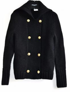 Saint Laurent black wool cardigan