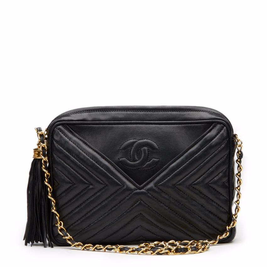 56d993ef85f3 Chanel Chevron Quilted Lambskin Vintage Camera Bag | HEWI London
