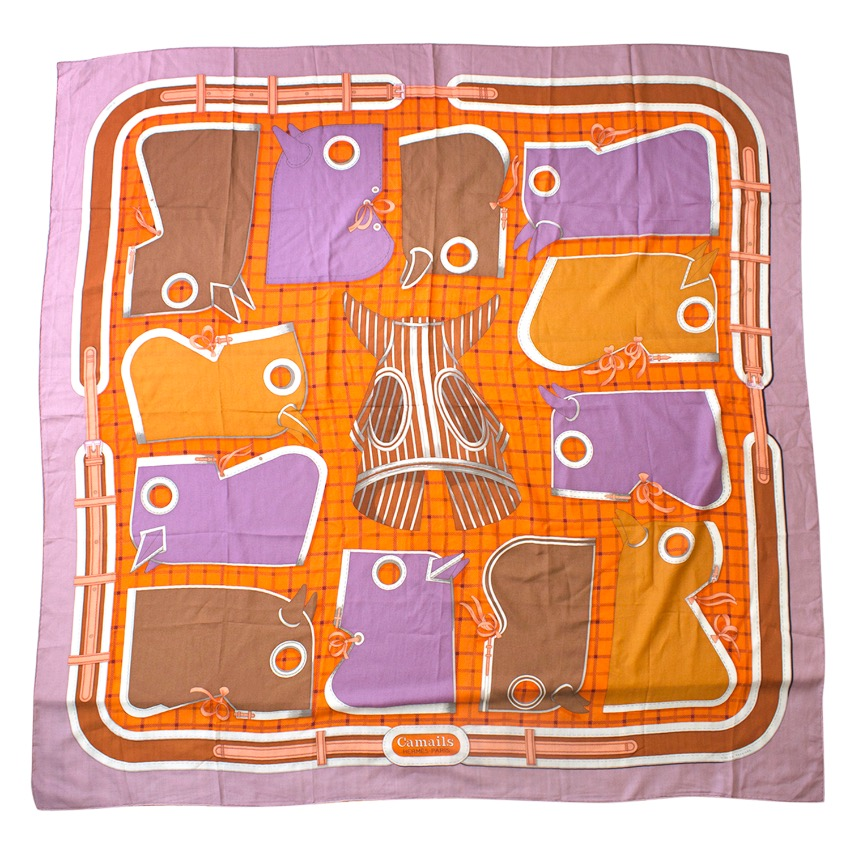 Hermes Camails Cashmere and Silk Scarf